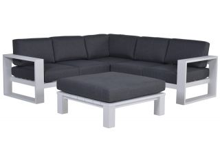 Garden Impressions Cube loungeset - 4-delig - Wit