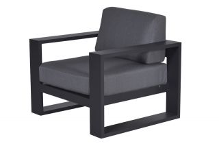 Garden Impressions Cube loungestoel - Carbon