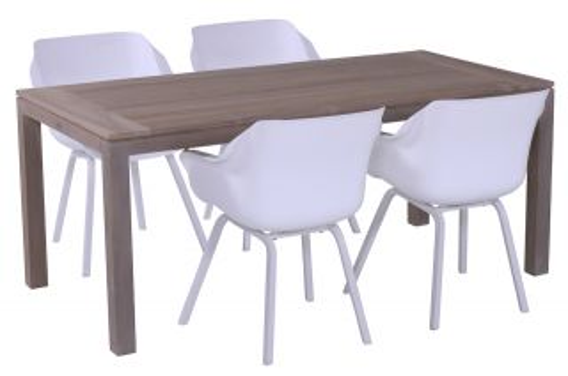 Hartman Sophie tuinstoel wit + Picasso tuintafel 180x90 cm.
