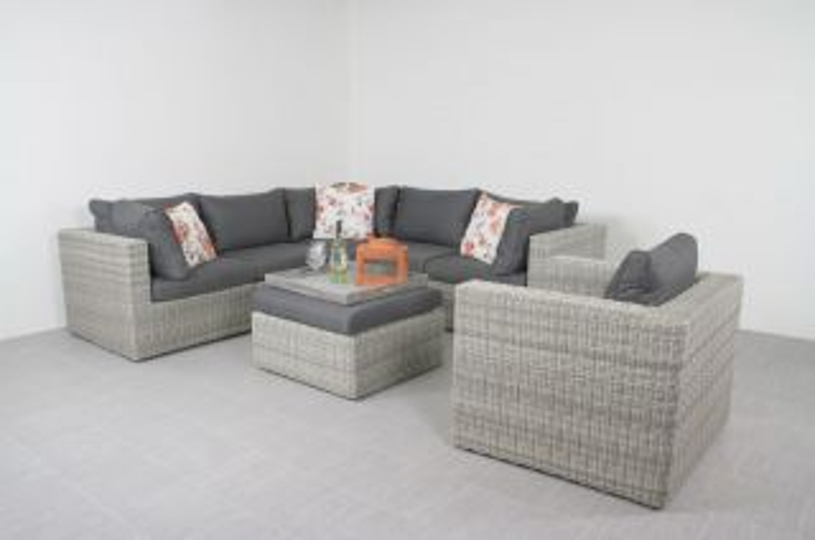 Suns Garda loungeset - inclusief loungestoel - White grey