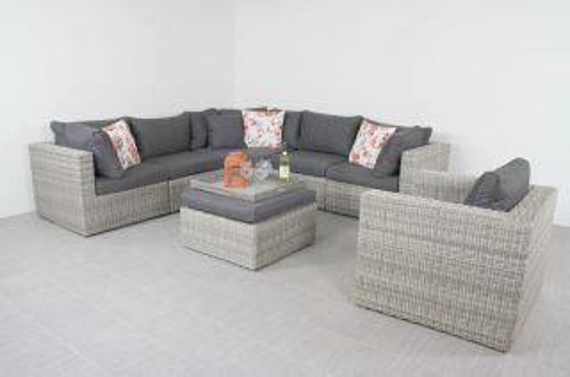 Suns Garda loungeset XL - inclusief loungestoel - White grey