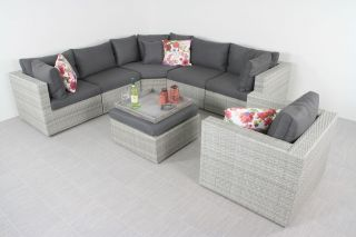 Suns Parma loungeset XL - inclusief loungestoel - White grey