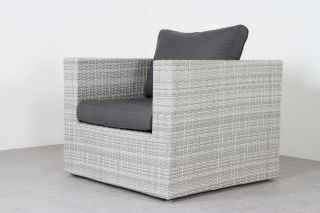 Suns Parma loungestoel - White grey