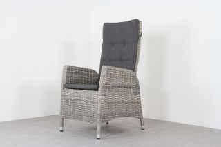 Verstelbare wicker tuinstoel Manhattan - White grey