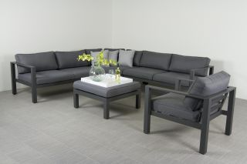 Suns Newton loungeset inclusief loungestoel - Antraciet