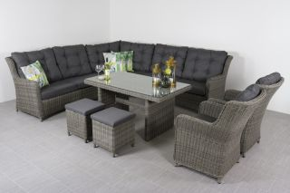 Lounge dining set Richmond + 2 dining tuinstoelen