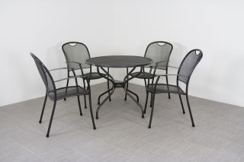Kettler Kos tuinset + strekmetaal tafel 90 cm.