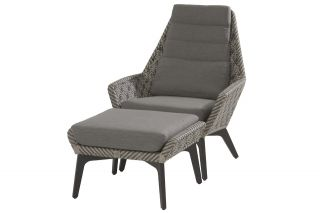 4 Seasons Savoy loungestoel + footstool