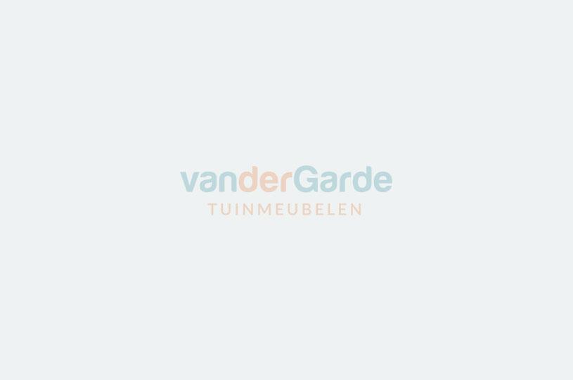 Verstelbare wicker tuinstoel Manhattan - dubble LIGHT grey