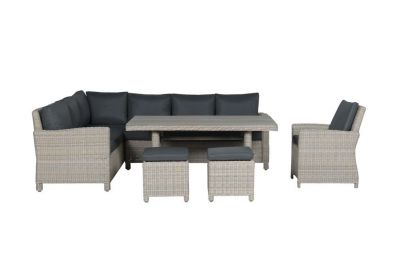 Vancouver lounge dining set links + stoel - Vintage willow