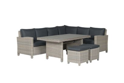 Vancouver lounge dining set vintage willow - Rechts - Garden Impressions