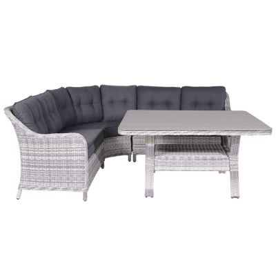 Winston lounge dining set - 4-delig - Cloudy grey