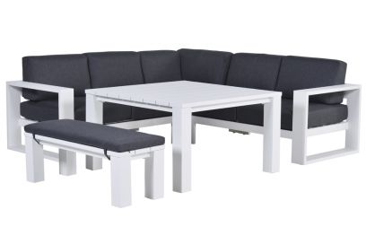 Garden Impressions Cube lounge dining set - Wit