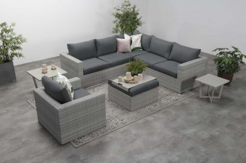 Atlanta loungeset 5-delig – Vintage grey