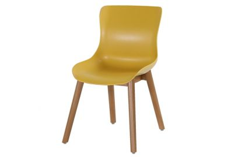 Hartman Sophie Studio Dining stoel - Curry Yellow - Teak poot