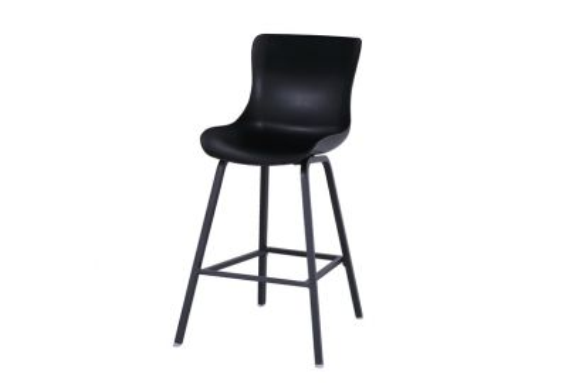 Hartman Sophie dining Bar stoel - Carbon Black - Alu poot