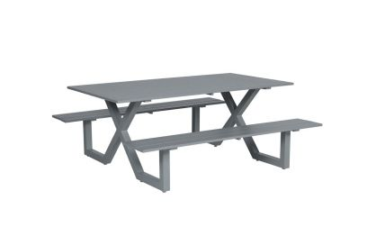 Napels picknicktafel 180 x 170 cm. - Artic grey