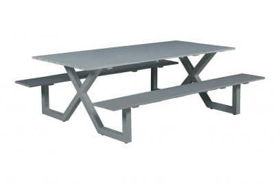 Napels picknicktafel 210 x 170 cm. - Artic grey