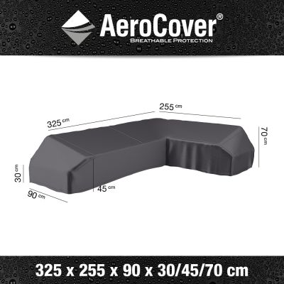 Aerocover platform loungesethoes 325x255 cm - Rechts