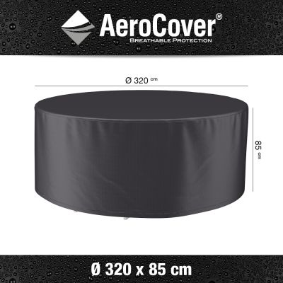 Aerocover ronde tuinsethoes - 320x85 cm.