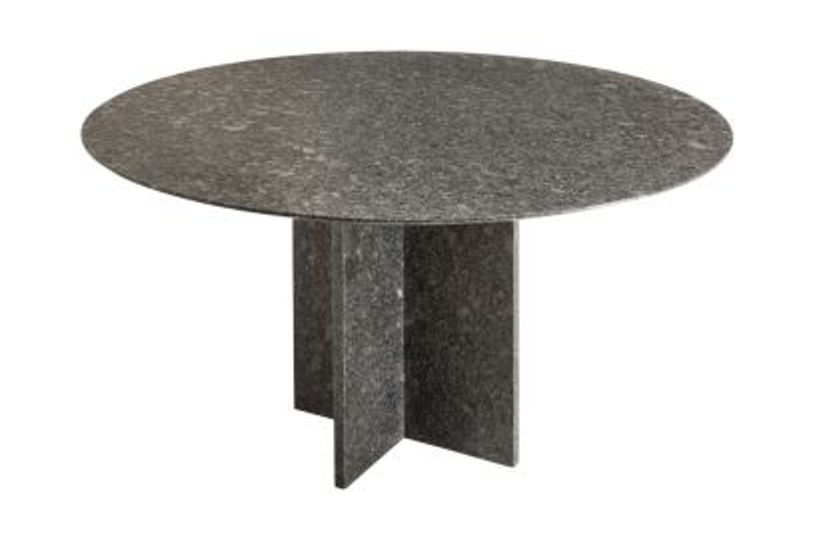 Granieten tuintafel Jutland rond 140 cm. - Pearl grey