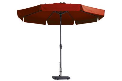 Madison parasol Flores luxe Brick Red 300 cm.