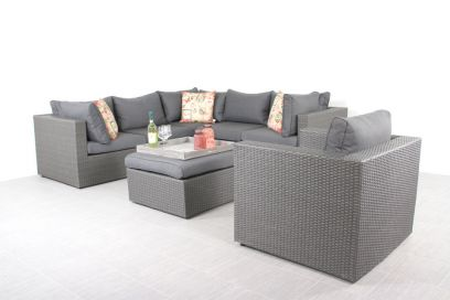 Suns loungeset Parma - inclusief fauteuil - Antraciet