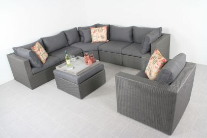 Suns XL loungeset Parma - Inclusief loungestoel - Antraciet