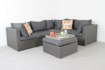 Suns Parma loungeset - Antraciet - exclusief middel
