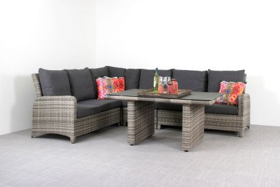 Aruba lounge dining set - Light grey