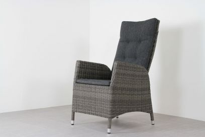 Verstelbare wicker tuinstoel Manhattan - dubble grey