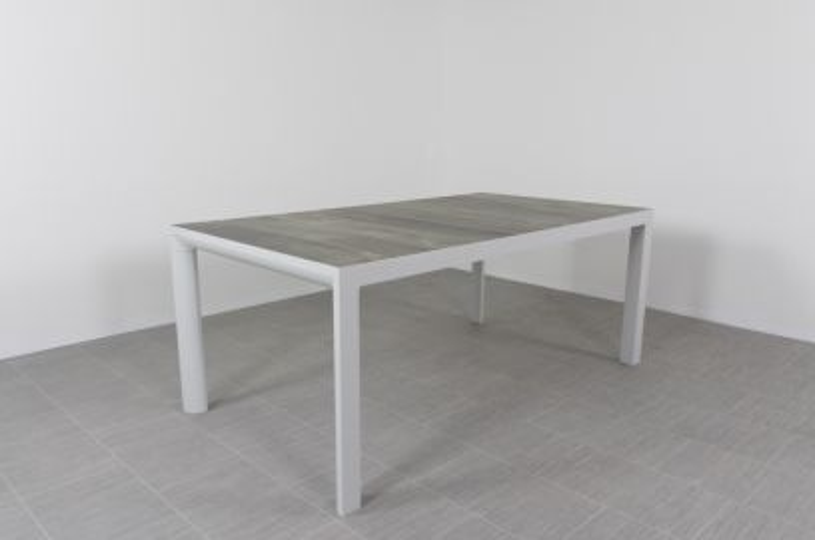 Kings tuintafel light grey - 180x100 cm.