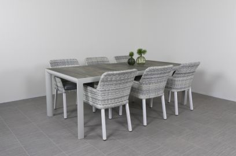 Riverside tuinstoel + Kingstafel 220 cm.