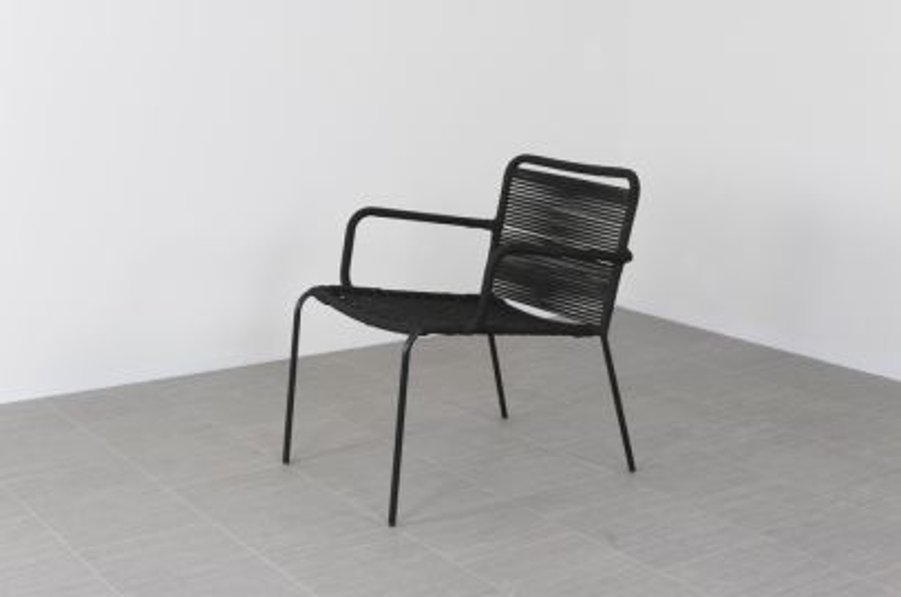 Dover rope relaxstoel - Zwart