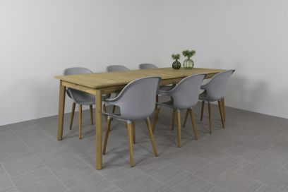 Paris tuinstoel Light grey + Lugo tuintafel 220 cm.