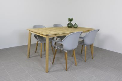 Paris tuinstoel Light grey + Lugo tuintafel 170 cm.