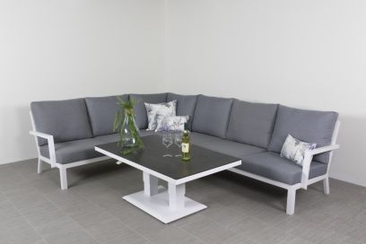Rockford lounge dining set - white
