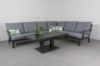 Rockford lounge dining set - antraciet