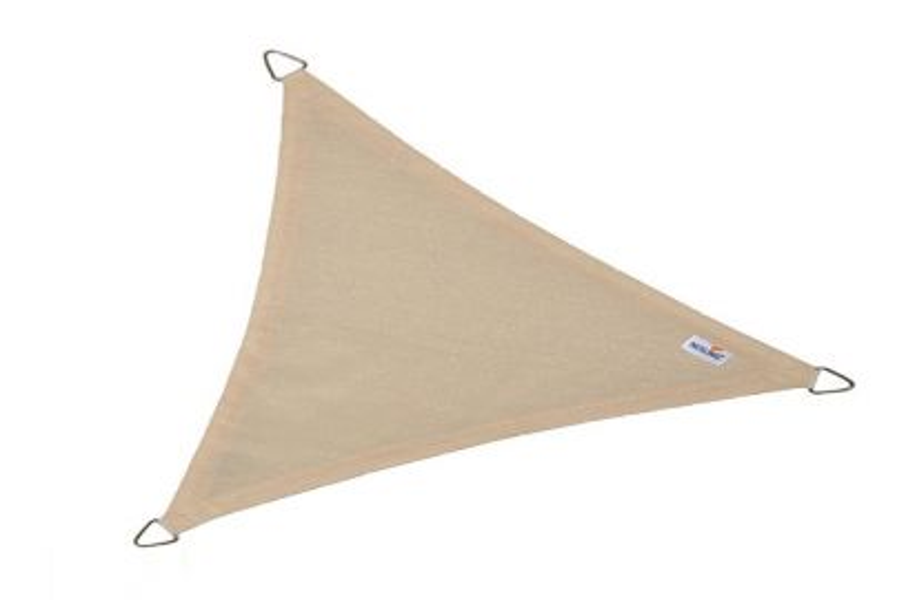 Nesling Coolfit schaduwdoek driehoek gebroken wit 5x5x5 m.