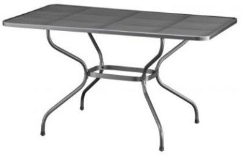 Kettler strekmetaal tafel 145x90 cm.