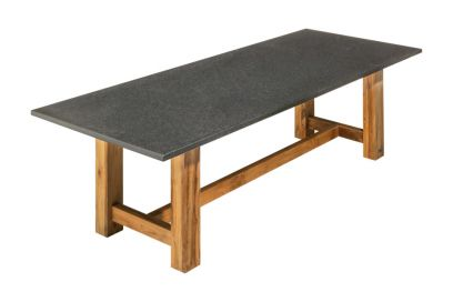 Granieten tuintafel 240 x 100 cm. - Coffee brown