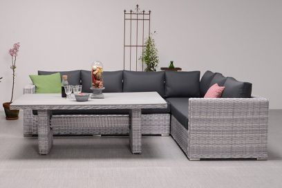 Tennessee lounge dining set - Cloudy grey