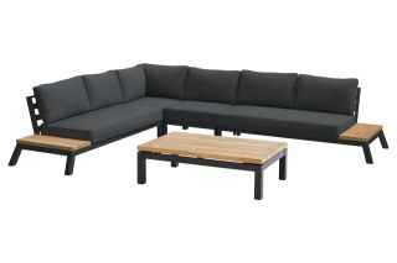 4 Seasons Empire platform loungeset 5-delig met Capitol tafel 120 x 75 cm.