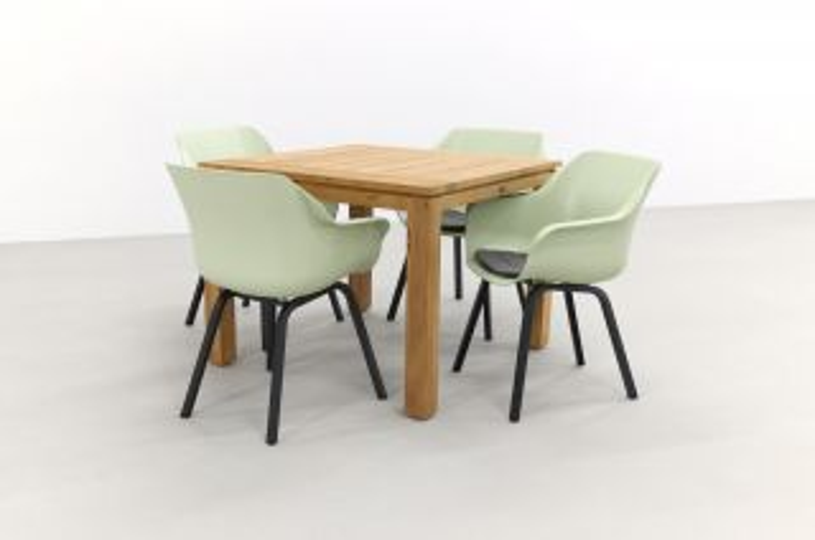 Hartman Sophie tuinstoel French green/Rome brown 100 cm. - 5-delig