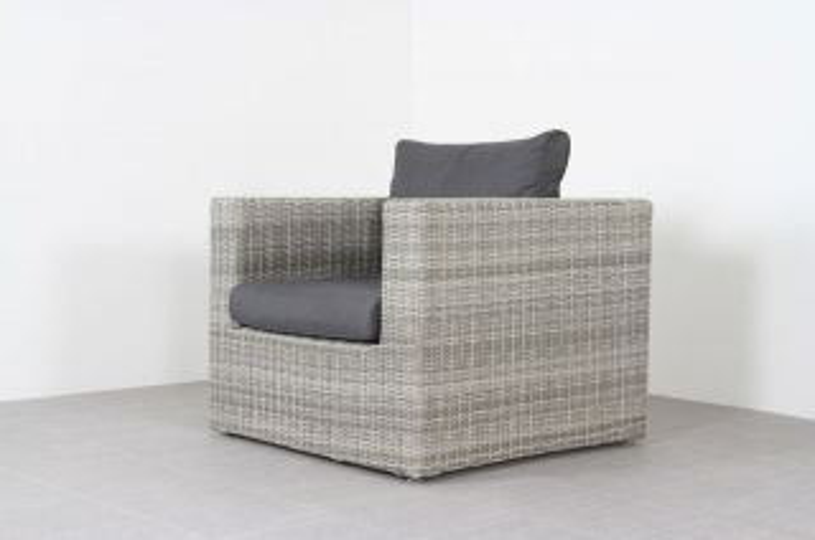 Garda loungestoel - white grey