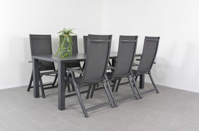 Verstelbare tuinset met stoelen van der garde tuinmeubelen