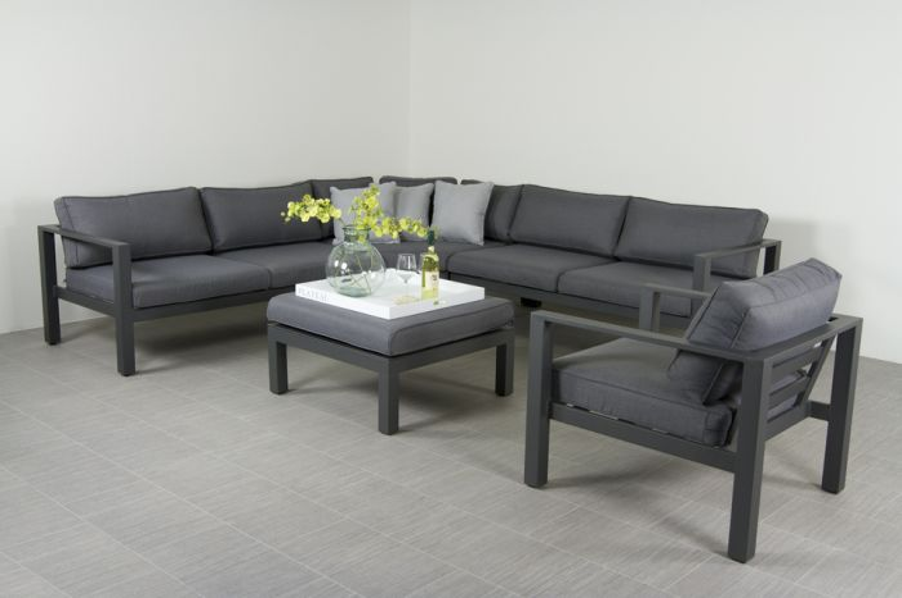Luxe Loungeset Zwart.Suns Newton Loungeset Inclusief Loungestoel Antraciet