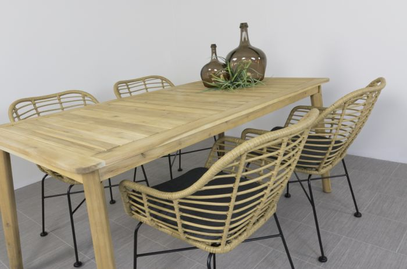 Brilliant Malta Natural Tuinstoel Lugo Tuintafel 170 Cm 5 Delig Bralicious Painted Fabric Chair Ideas Braliciousco