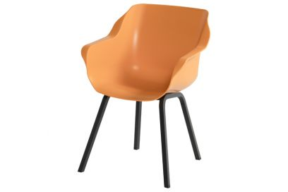 Hartman Sophie Element dining armstoel - Indian Orange - Alu poot