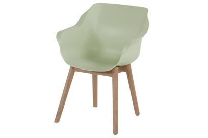 Hartman Sophie Studio dining armstoel - French green - Teak poot